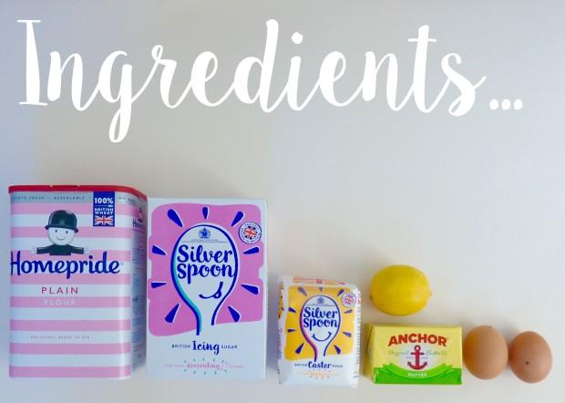 Easter biscuits ingredients 1